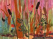 Vines Mixed Media - Wetlands Daybreak I by Julia Berkley