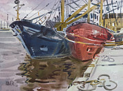 Plein Air Metal Prints - Wexford Fishing Boats Metal Print by Donald Maier