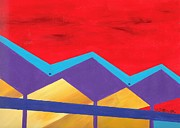 Landmarks Paintings - Wexler Folded Roof One by Randall Weidner