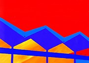 Landmarks Paintings - Wexler Folded Roof Two by Randall Weidner