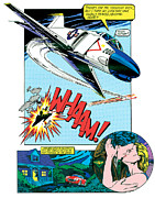 Aeroplane Posters - WHAAM and Kiss Poster by John Reilly