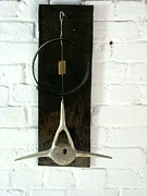 Found Object Art Sculpture Prints - Whale Bone and Wheel Rim Print by Ber Lazarus