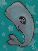 Lowbrow Prints - Whale II Print by  Abril Andrade Griffith