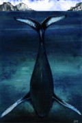 African-american Mixed Media - whale II by Anthony Burks