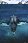 African-american Mixed Media - Whale III by Anthony Burks