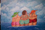 Larger Paintings - Whale Watching by Jennifer Watier