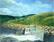 Whale Painting Posters - Whale Watching  Nova Scotia Poster by Ethel Vrana