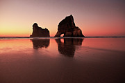 Geography Prints - Wharariki Sunset Glow Print by Photography by Tim Bow