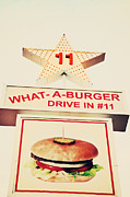 Neon Signs Photos - What A Burger by Kim Fearheiley
