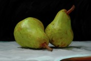 Pear Paintings - What a Pair by Patti Siehien