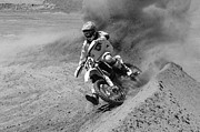 Pala Raceway Framed Prints - What A Rush Monochrome Framed Print by Bob Christopher
