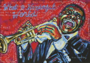 Satchmo Posters - What A Wonderful World  Poster by Tami Curtis Ellis