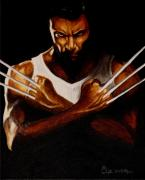 Wolverine Paintings - What cha looking at Bub by Al  Molina