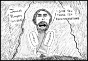 Jokes Drawings Originals - What if Moses had said ... by Yasha Harari
