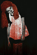 Undead Art - What is Black and White and Red All Over - Zombie Raggedy Ann by Lisa Knechtel