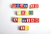 Autistic Prints - What Is Your Autism Iq Print by Photo Researchers