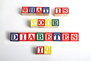 Diabetic Posters - What Is Your Diabetes Iq Poster by Photo Researchers