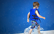 Water Play Prints - What Life Is All About Print by Gwyn Newcombe