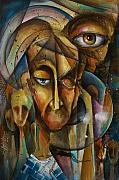 Outsider Art Paintings - What by Michael Lang