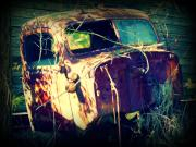 Old Cars Mixed Media - What Once Was by Dana  Oliver