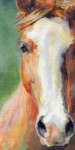 Chestnut Horse Paintings - What the Blazes by Kimberly Santini