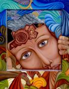 Clay Paintings - What the Mind Feels by Karen Musick