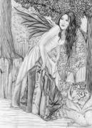 Faerie Drawings - What This Way Comes by Michelle Sparks