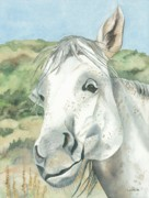 Animal Portrait Paintings - What was the Question by Kimberly Lavelle