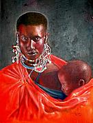 Maasai Painting Originals - What You Lookin For by G Cuffia