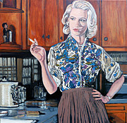 Betty Painting Framed Prints - Whats For Dinner? Framed Print by Tom Roderick