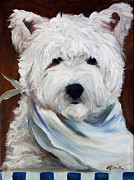 Puppies Art - Whats for Supper by Mary Sparrow Smith