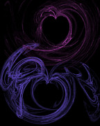 Hearts Digital Art - Whats Mine is Yours by Rhonda Barrett