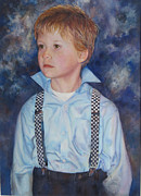 Suspenders Painting Posters - Whats Next Poster by Mary Wykes