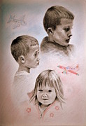 Planes Drawings Framed Prints - Whats that do dad Framed Print by Lynn Hughes