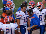 Tim Tebow Photos - Whats The Plan Boss? by Nicole Morris