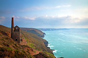Summer Squall Framed Prints - Wheal Coates Tin Mine Framed Print by Michael Stretton
