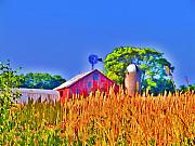Red Barn Prints Posters - Wheat Farm Near Gettysburg Poster by Bill Cannon