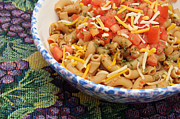 Prepared Prints - Wheat Pasta Goulash Print by Andee Photography