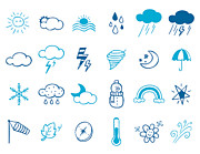 Storm Cloud Digital Art - Wheater Icon Set by Eastnine Inc.