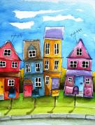 Suburbs Paintings - Wheaton by Lucia Stewart