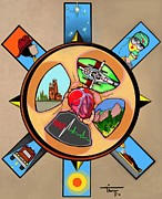 Boulder Mixed Media Posters - Wheel of Life EMS Poster Poster by Tim  Conroy