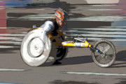 Nyc Digital Art Metal Prints - Wheelchair Racer Metal Print by Clarence Holmes