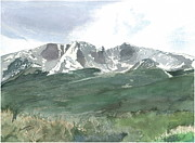 Fourth Of July Painting Originals - Wheeler Peak - July Fourth by Joel Deutsch