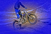 Dirt Bike Framed Prints - Wheeling Framed Print by Karol  Livote