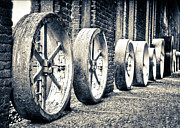 Wheels Print by Niels Nielsen