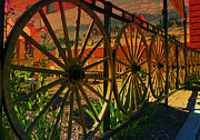 Antiques Mixed Media - Wheels of the Old West - Northwest Photography by Photography Moments - Sandi