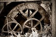Mechanism Photo Framed Prints - Wheels of time Framed Print by Gabriela Insuratelu