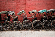 Kolkata Prints - Wheels Print by Suman Roychoudhury