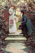 Flirting Painting Prints - When All the World Seemed Young Print by Howard Pyle
