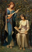 Music Score Paintings - When Apples were Golden and Songs were Sweet but Summer had Passed Away by John Melhuish Strudwick